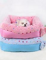 Недорогие -Мягкий / Милые Одежда для собак Кровати Горошек Синий / Розовый Собаки / Коты