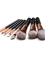 abordables -8pcs Pinceles de maquillaje Profesional Sistemas de cepillo / Maquillaje / Cuidado de la Piel Fibra Profesional / Cobertura completa Madera / Bambú