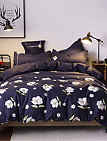 cheap -Duvet Cover Sets Floral Polyster Applique 4 Piece