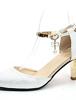 cheap -Women's Shoes PU(Polyurethane) Summer D'Orsay & Two-Piece Heels Stiletto Heel Pointed Toe White / Pink