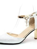 Недорогие -Жен. Обувь Полиуретан Лето Туфли д'Орсе Обувь на каблуках На шпильке Заостренный носок Белый / Розовый