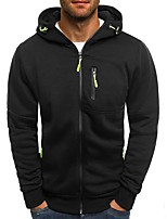 cheap -Men's Basic Hoodie - Solid Colored