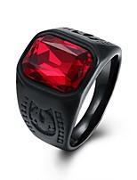 economico -Per uomo Vintage / 3D Band Ring - Inossidabile Creativo Vintage, Punk 8 / 9 Rosso Per Quotidiano / Strada