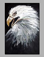 abordables -Peinture à l'huile Hang-peint Peint à la main - Abstrait / Pop Art Moderne Toile