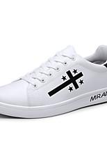 cheap -Men's PU(Polyurethane) Spring & Summer Comfort Sneakers Slogan White / Black / Red