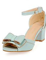 Недорогие -Жен. Обувь Полиуретан Лето Удобная обувь Обувь на каблуках На толстом каблуке Лиловый / Синий / Розовый