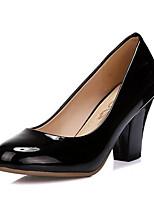 Недорогие -Жен. Обувь Полиуретан Весна Удобная обувь Обувь на каблуках На толстом каблуке Черный / Синий / Миндальный