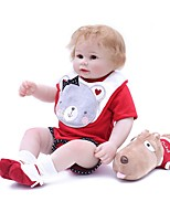 cheap -OtardDolls Reborn Doll Baby Boy 18 inch lifelike, Tipped and Sealed Nails, Artificial Implantation Brown Eyes Kid's Boys' Gift