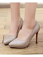 cheap -Women's Shoes PU(Polyurethane) Spring / Fall Comfort / Basic Pump Heels Stiletto Heel Gold / Silver
