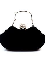 cheap -Women's Bags Corduroy / Velvet Evening Bag Crystals Fuchsia / Wine / Royal Blue