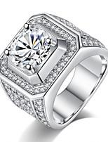 economico -Per uomo Zircone cubico A strati Band Ring / Anello di fidanzamento - Vintage, Elegante 7 / 8 / 9 Bianco Per Matrimonio / Fidanzamento / Cerimonia
