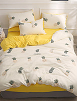 cheap -Duvet Cover Sets Solid Colored Polyster Applique 4 Piece