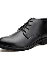 Недорогие -Муж. Fashion Boots Синтетика Весна лето На каждый день Ботинки Черный
