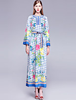 cheap -Mary Yan & Yu Women's Vintage / Street chic Tunic Dress - Floral Print