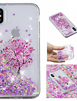 cheap -Case For Apple iPhone X / iPhone 8 Plus Flowing Liquid / Pattern / Glitter Shine Back Cover Tree / Glitter Shine Soft TPU for iPhone X / iPhone 8 Plus / iPhone 8