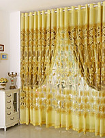 cheap -Blackout Curtains Drapes Living Room Floral 100% Polyester Jacquard