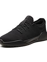 cheap -Men's Light Soles Mesh / Synthetics Summer Comfort Sneakers Black / Gray / Black / White