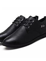 Недорогие -Муж. Обувь для вождения Полиуретан Весна Туфли на шнуровке Черный / Серый / Хаки