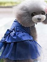 abordables -Perros / Gatos / Animales Pequeños de Pelo Vestidos Ropa para Perro Jacquard / Corazón / Princesa Azul Oscuro / Rojo / Rosa Algodón Jacquard / Algodón Disfraz Para mascotas Mujer Deportes y Exterior