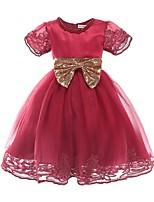 Недорогие -Дети Девочки Пэчворк С короткими рукавами Платье