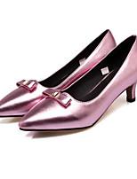 cheap -Women's Shoes PU(Polyurethane) Spring Comfort / Basic Pump Heels Kitten Heel Silver / Dark Grey / Pink