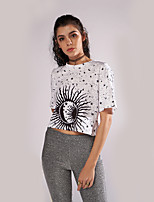 economico -T-shirt Per donna Moda città Fantasia geometrica