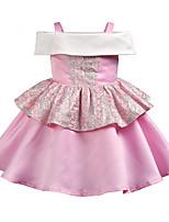 cheap -Kids Girls' Color Block Short Sleeve Dress