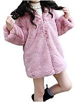 Недорогие -Дети Девочки Сова С принтом Длинный рукав Куртка / пальто