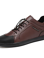 cheap -Men's Nappa Leather Spring Comfort Sneakers Black / Brown / Blue