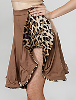 preiswerte -Für den Ballsaal Unten Damen Leistung Milchfieber Muster / Druck / Horizontal gerüscht Normal Röcke