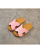 cheap -Girls' Shoes Faux Leather Summer Comfort Slippers & Flip-Flops for White / Black / Pink