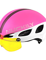 abordables -Nuckily Adulte Casque de vélo 8 Aération EPS, PC Des sports Cyclisme / Vélo / Cyclisme - Bleu + Orange. / Noir / bleu. / Noir / jaune. Unisexe