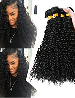 cheap -3 Bundles Malaysian Hair Curly Human Hair Natural Color Hair Weaves / Bundle Hair 8-28 inch Human Hair Weaves Machine Made Best Quality / New Arrival / 100% Virgin Natural Natural Color Human Hair