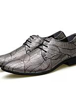 Недорогие -Муж. Наппа Leather Осень Удобная обувь Туфли на шнуровке Серебряный / Красный / Синий