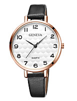 cheap -Geneva Women's Wrist Watch Quartz New Design Casual Watch Cool Leather Band Analog Casual Fashion Black / Brown - Black / White White / Brown Black / Rose Gold One Year Battery Life