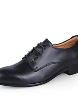 Недорогие -Муж. Официальная обувь Кожа Весна Туфли на шнуровке Черный / Темно-русый / Темно-коричневый