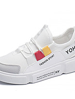 economico -Per donna Scarpe PU (Poliuretano) Estate Comoda Sneakers Piatto Punta tonda Bianco / Nero