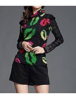 cheap -Women's Basic / Street chic T-shirt - Geometric Print
