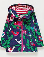 cheap -Kids Girls' Print Long Sleeve Trench Coat