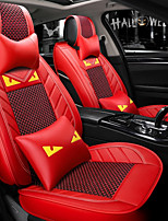 cheap -ODEER Car Seat Covers Seat Covers Red Textile Common for universal All years All Models