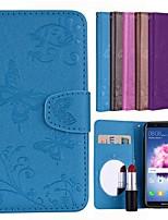 preiswerte -Hülle Für Huawei P smart Kreditkartenfächer / Flipbare Hülle / Muster Ganzkörper-Gehäuse Solide / Schmetterling Hart PU-Leder für P smart