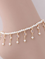cheap -Beads Ankle Bracelet - Imitation Pearl Simple, Tassel, Fashion Gold / Silver For Daily Women's