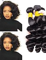 Недорогие -3 Связки Бразильские волосы Свободные волны Натуральные волосы Подарки / Косплей Костюмы / Человека ткет Волосы 8-28 дюймовый Естественный цвет Ткет человеческих волос