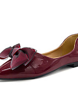cheap -Women's Shoes Patent Leather / PU(Polyurethane) Summer Comfort Flats Flat Heel Pointed Toe Bowknot Beige / Wine