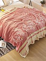 Недорогие -Коралловый флис, Пигментная печать Однотонный Хлопок / полиэфир одеяла
