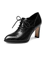 Недорогие -Жен. Обувь Наппа Leather Наступила зима Удобная обувь Ботинки Гетеротипическая пятка Черный / Темно-синий