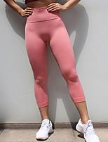 abordables -Mujer Deportivo Legging - Un Color Media cintura
