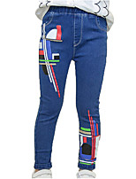economico -Bambino Da ragazza Essenziale / Moda città Sport A strisce / Con stampe Con stampe Cotone Jeans