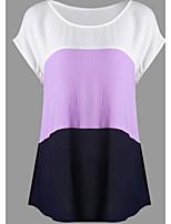 cheap -Women's Basic Shirt - Color Block