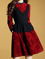 abordables -Mujer Chic de Calle / Sofisticado Conjunto - Un Color / Geométrico Vestidos